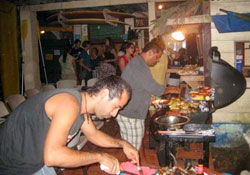 Spanish language school bbq in Bocas del Toro