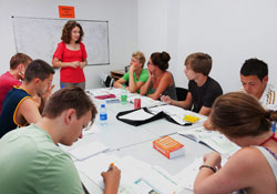 Study Spanish in a group on Ibiza